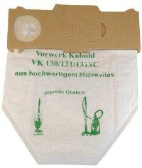 6 Microvlies Staubsaugerbeutel geeignet für Vorwerk Kobold 130, 131 und SC-Modelle