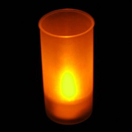 TOOGOO(R)LED Luz de la vela sin llama parpadeante Tealight - sonido activado