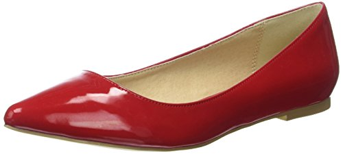 Buffalo Shoes H690A-30 P2010L Patent, Ballerine Donna, Rosso (Red), 39 EU