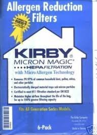 3M 63m HEPA Bolsas vacío Kirby Micron Magic 204803