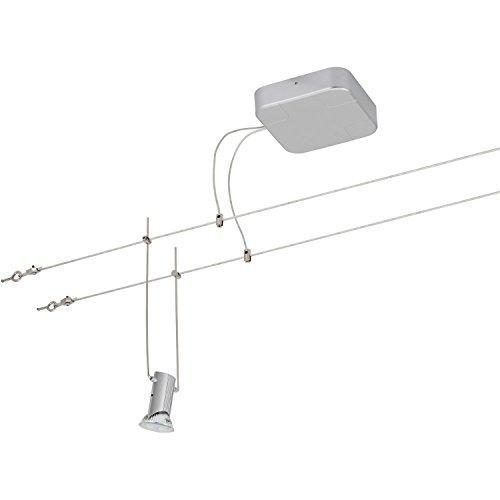 LED Seilsystem Komplettset, 2351-054, 5 x 3 Watt, Schwenkbar, titan-farbig, inkl. Leuchtmittel und Seil