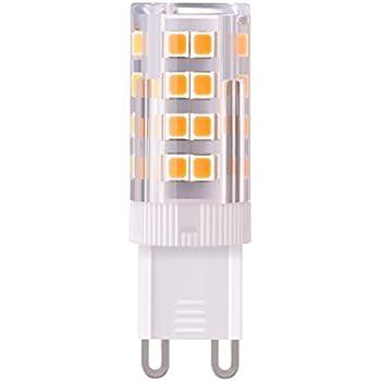 Sunix bombillas LED G9 de 5W, equivalentes a Lámparas halógenas de 50W, Blanco Cálido