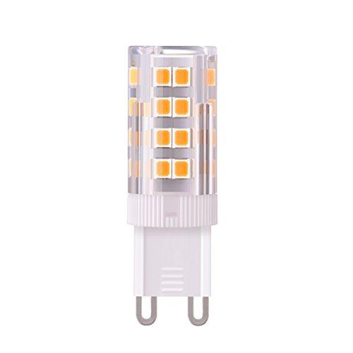 Sunix G9 Lampadina LED 5W(Equivalente a 50W Luce Bianca Calda, Lampadine) , 380Lm Non Dimmerabile, AC220V, CRI>80, Bagliore Romantico Temperatura 3000K, Lampadina LED Set da 1