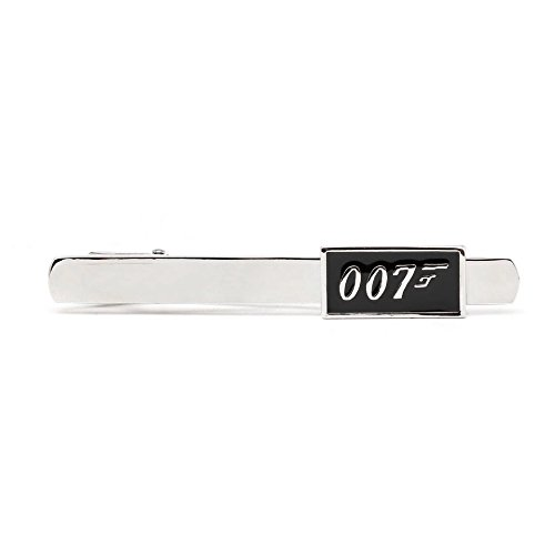 Bond James Kostüm Requisiten - JamesBond 007 Superheld Krawattennadel Bar Krawatte Clip Manschettenknöpfe Set Herren Zubehör Kostüm Requisiten