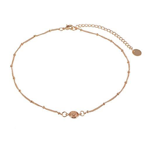 Cool-House-Jewelry shop Mode und kreative Hipster Zubehör Personality einfache Kurze Halskette Temperament Wilde Halskette, Gold