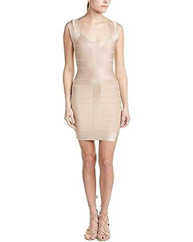 French Connection Womens Glitter Sheath Dress, 10, Metallic