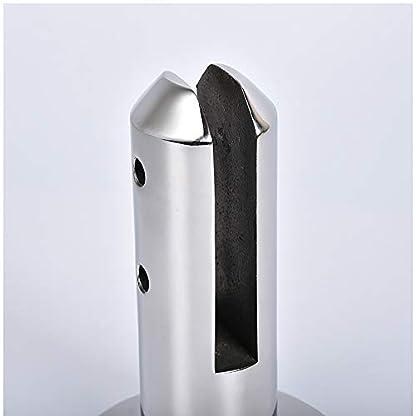 Houkiper Clip de Cristal, Tenedor de Cristal cilíndrico de la Abrazadera de la Cerca del Clip de Cristal de la barandilla del Acero Inoxidable para la Piscina