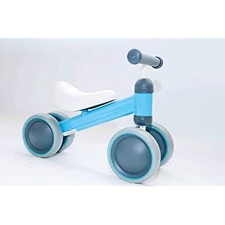 Happykidz balance Bike  Children Walker- 10-24 Months No Pedal 3 Wheels TriCycle First Bike [Blue]