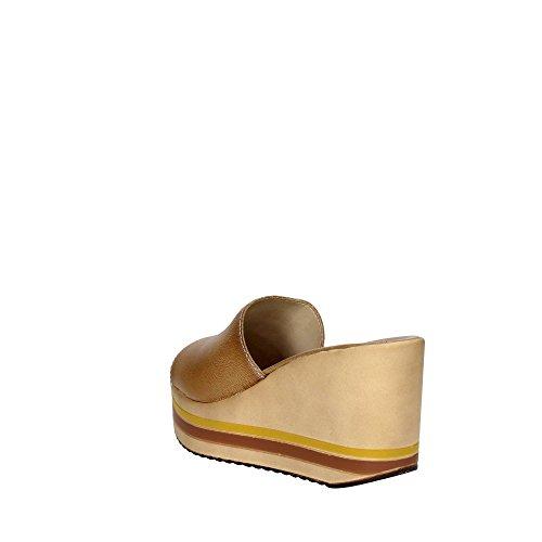 Cinzia Soft IAF 82252A-T 003 Pantoletten Damen Braun Leder