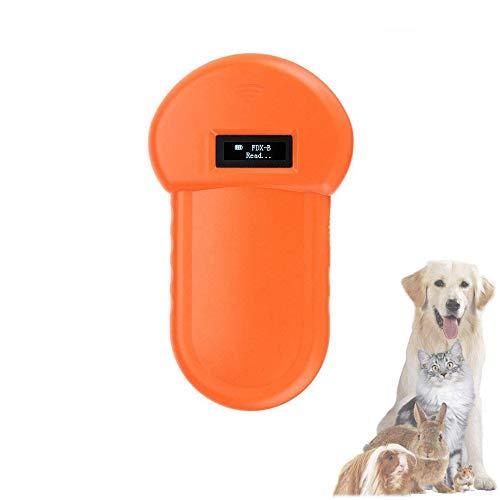 QHLJX Tierchip Lesegerät, 134.2 kHz Animal ID Reader LCD Display RFID tragbar Pet Mikrochip Anerkennung Scanner, USB-Ladevorgang, für Haustier Identifikations Management
