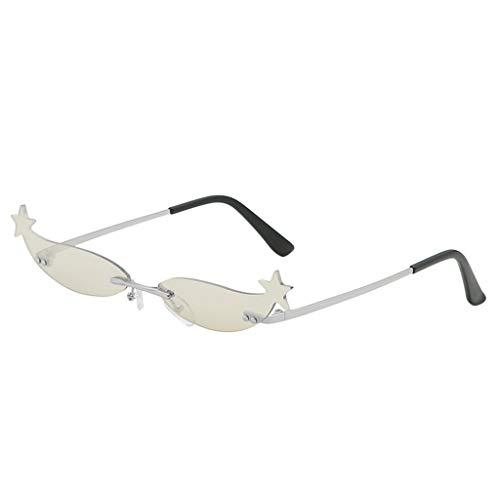 Lazzboy Mode Mann Frauen Unregelmäßige Form Sonnenbrille Brille Vintage Retro Style Herren Polarisierte Mit Metallrahmen Und Kohlefaser Beine(D)