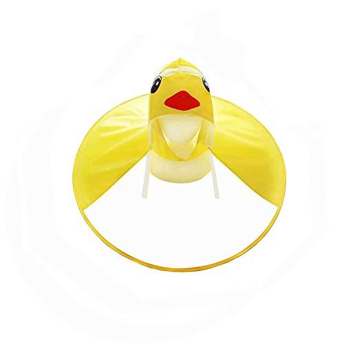 Db Kinder Regenschirm Kappe, Kinder magische Hände frei Poncho PVC Regenmantel Hut, Portable leichte Wiederverwendbare Ente Regenmäntel für Mädchen und Jungen, Wind und wasserdicht resistent