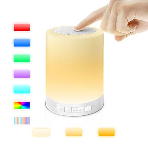 AFAITH Drahtloser Bluetooth Lautsprecher-Lampen-Lautsprecher Multifunktions-beweglicher Musik-Ton-Kasten LED-Noten-Kontrolllampe-Kind-Nachtlicht Für Innen- und Außenanwendungen Kinder Deco Arbeiten