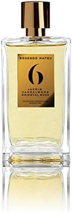 Rosendo Mateu No.6 Jasmin Sandalwood Oriental Musk Eau de Parfum Spray for Unisex, 100 ml