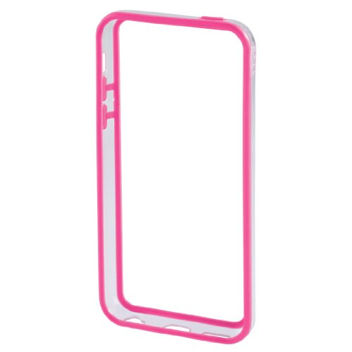 Hama Edge Protector Case für Apple iPhone 5C schwarz/tansparent pink/tansparent