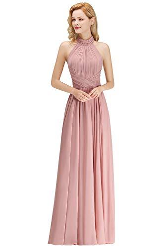 MisShow Damen Chiffon Kleider Elegant Ärmellos A-Linie Halter Prom Kleid Hochzeitskleider...