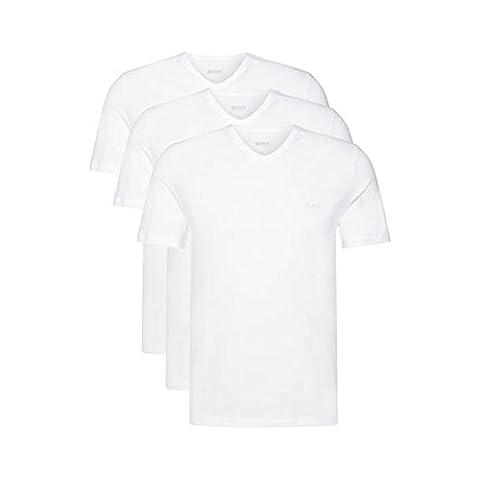 Hugo Boss 3er Pack V Neck V Ausschnitt M 3 x weiss T Shirts Farbe 100 Vorteilspack