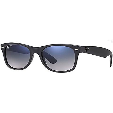 Ray-Ban Nuevas gafas de sol Wayfarer en degradado de azul negro mate polarizado RB2132 601S78 55