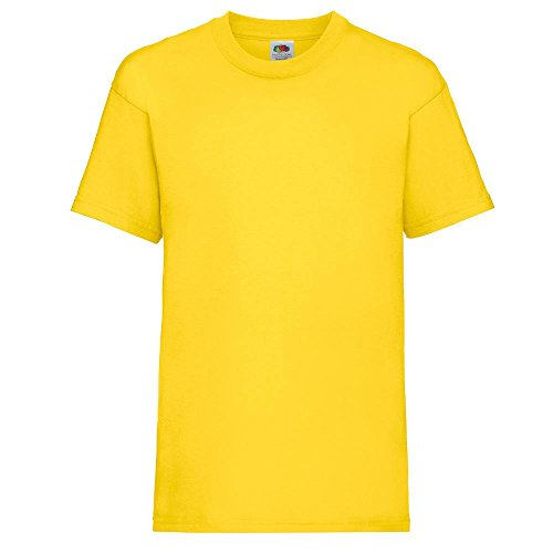 Fruit of the Loom - Kids Value Weight T / Yellow, 116 116,Yellow