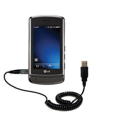 Cavo USB a Spirale per Sincronizzazione e Caricamento compatibile con LG VX9700 Adotta la Tecnologia TipExchange