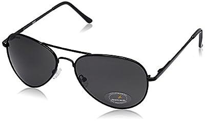 Fastrack Aviator Unisex Sunglasses - (M069BK3 58 Grey)