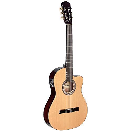 STAGG Konzertgitarre C546TCE-N m. EQ u. Cutawy