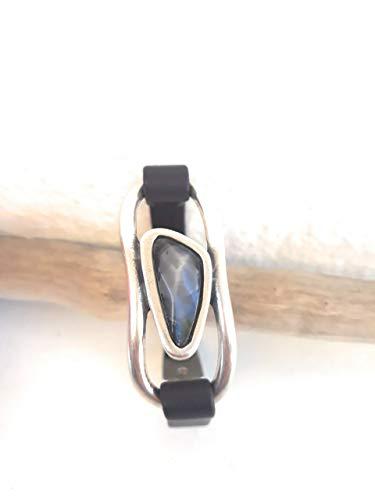 Imagen de azul tuareg creaciones. pulsera de mujer tipo uno de 50 con piedra cristal estilo swarovski. regalos de navidad regalos originales regalos para ella