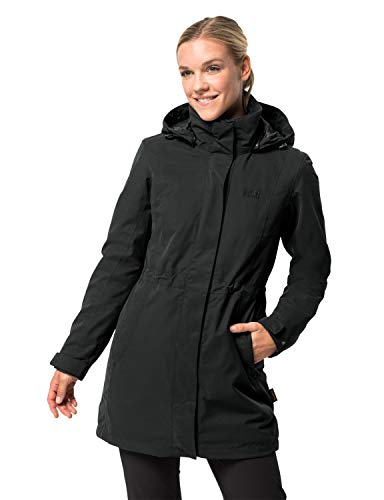 Jack Wolfskin Damen 3-in-1 Mantel Ottawa Coat Jacke, Black HW 17, XL (Mantel Damen Winter Wasserdicht)