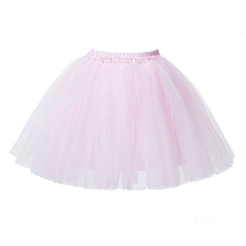 Honeystore Damen's Mini Tutu Ballett Mehrschichtige Rüschen Unterkleid ()