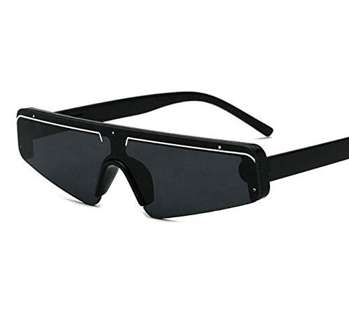 Preisvergleich Produktbild SIMINGSHUAI Kleine Quadratische Sonnenbrille Schwarzer Rahmen Rechteckige Sonnenschirme Im Freien Strandgläser