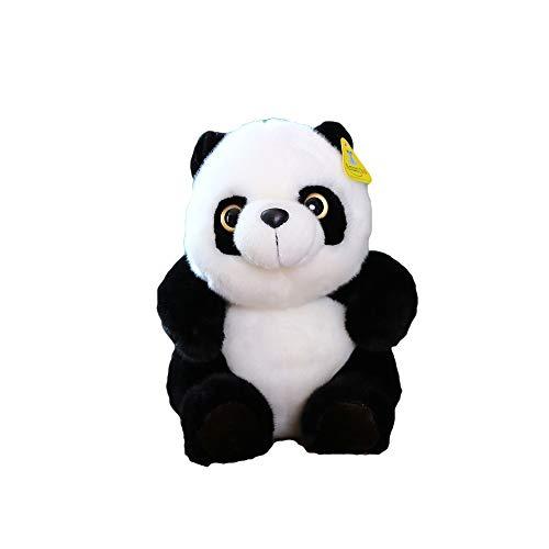 TKHCOLDM Kung Fu Panda - Panda Panda Peluche de Juguete muñeca simulación Regalo de cumpleaños de los niños en Blanco y Negro Femenino, David Panda, una Longitud Total de 45 Limi
