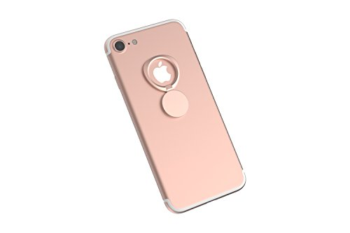 Kronya® | 360° drehbarer Smartphone Fingerhalter | Case Finger Griff Halter Halterung Handy Hülle Ring Ringhalter Ständer Tablet | Kompatibel mit Apple iPhone iPad Samsung Galaxy | 2 (Roségold) - Fall Hd 9 Kindle Fire