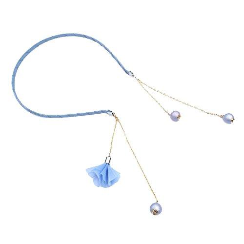 Ensemble de 2 accessoires cheveux bleu avec pendentif Boucles d'oreilles & glands