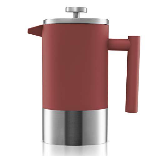 Origeens French Press Kaffeebereiter | Kaffeekanne - Teebereiter 1L | Isothermisch, Edelstahl...
