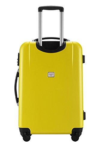 HAUPTSTADTKOFFER® 3er Kofferset · WEDDING · TSA · MATT · (in versch. Farben) + REISEADAPTER (Schwarz) Gelb