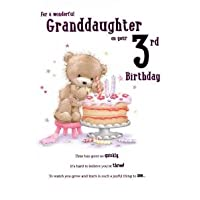 For A Special Granddaughter on Your 3rd birthday card - 7824CG