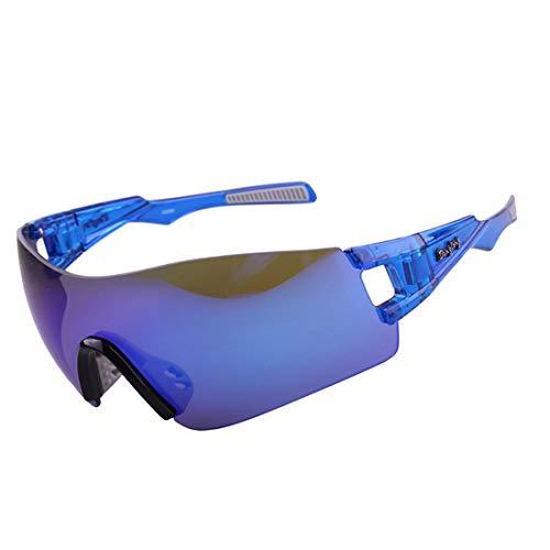 Retro Vintage Sonnenbrille, für Frauen und Männer Übergroße polarisierte Sport Sonnenbrille männer Frauen tac objektiv für Radfahren Baseball Laufen Angeln Golf Klettern gläser (Farbe : Blau)