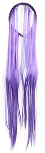 Mädchen Hexe Lang Neon Haar Stirnband Halloween Kostüm Accessoires Kostüm Perücke - (Perücke Lila Mädchen)