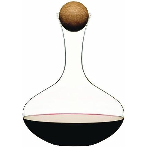 Sagaform - Decantador de vino con tapón de madera de roble (2 l)