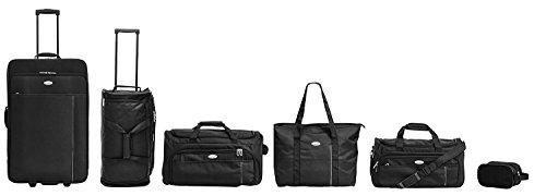 Packenger Family Traveller, 6er Kofferset inkl. zwei Koffern, Weekender, Strandtasche und Kulturbeutel