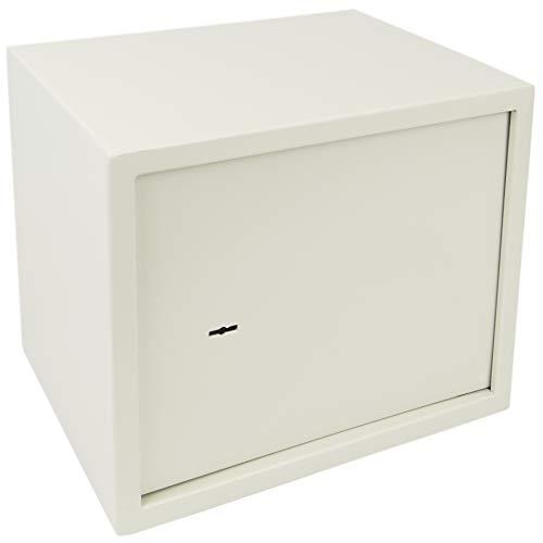 PrimeMatik - Caja Fuerte de Seguridad de Acero y con Llaves 38 x 30 x 30 cm Beige BY013