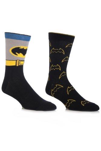 Herren 2 Paar SockShop DC Comics Batman Mix Socken Gemischt 6-11 (Dc-logo-socken)