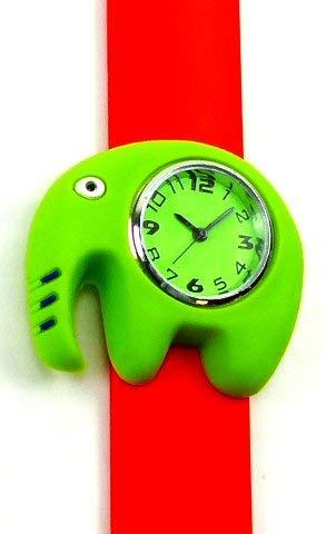 Evil Wear Armbanduhr-Kinder-Uhr-Damenuhr mit Slaparmband aus Silikon viele Modelle Benjamin 84-x (rot)