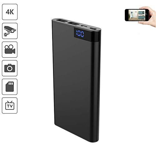 HD 4K Mini DV Kamera  IR Nachtsicht    Portable PowerBank 10000mAh Überwachungskamera für Zuhause Mit Bewegungsmelder Digital  800 Megapixel Digital Audio Portable Dvr