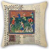 Uloveme The Oil Painting Gaston Phoebus - Livre De La Chasse Throw Pillow Case Of ,16 X 16 Inches / 40 By 40 Cm Decoration,gift For Relatives,teens,divan,play Room,couples,adults (twice Sides)