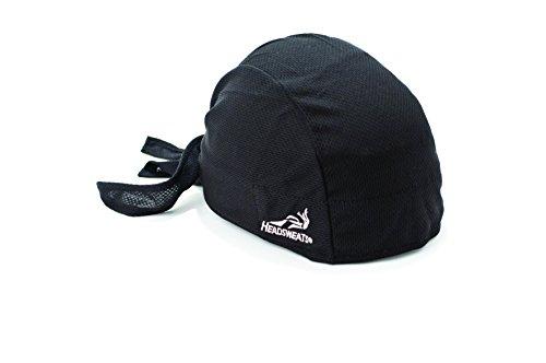 Headsweats Bandana Classic Black, One size (Bandana Sportliche)