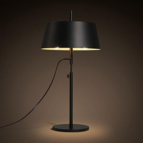 GaoHX Light Moderne Minimalistischer Mode Led-Lampe Schwarz Schmiedeeisen Schattierungen Wohnzimmer Schlafzimmer Studie Nachttisch Lampen