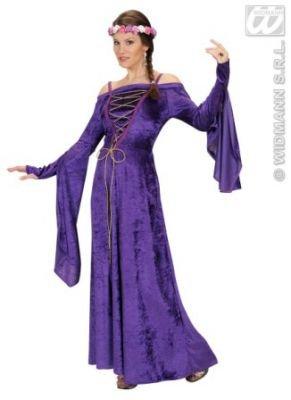 (Hofdame Renaissance violett exklusive Kostüm Fasching)