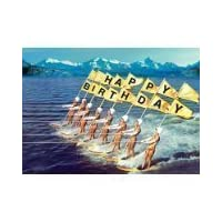 "Bikini everyday cards 5""x7"" Surfers Happpy Birthday - Greeting Card max hernn"