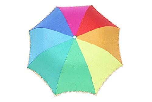 GTWP GT Umbrella Regenbogen Regenschirm Sun Rain Umbrella Anti-UV Waterproof Parasol Regenschirm Sunshade